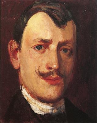 Harald Oskar Sohlberg. Self-portrait