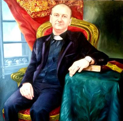 Хельга Эдуардовна Григорьева. Oil on canvas, 90/90. Pastor.