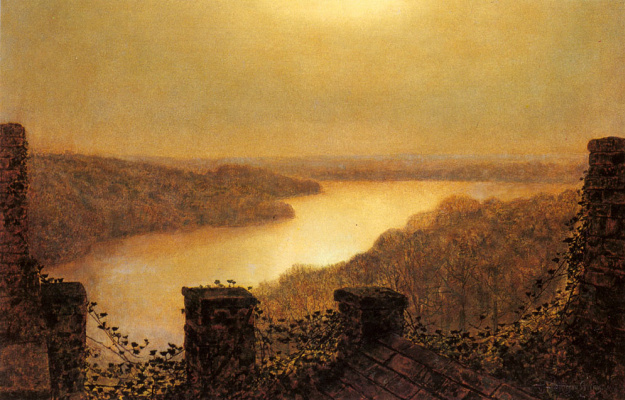 John Atkinson Grimshaw. The view from the castle
