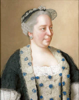 Jean-Etienne Liotard. Portrait of the Empress Maria Theresa