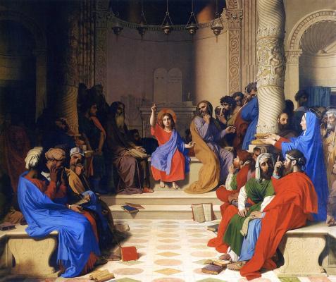 Jean Auguste Dominique Ingres. Jesus among the Doctors
