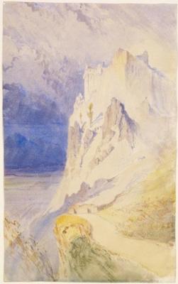 John Ruskin. Dumbarton Castle, Scotland