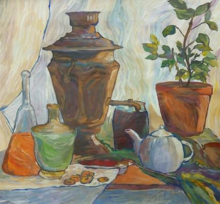 Roman Vereshchagin. Still life in imitation of Van Gogh