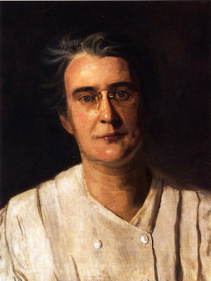 Thomas Eakins. Portrait Of Lucy Langdon Williams Wilson