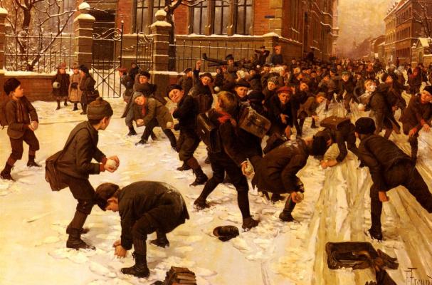 Фриц Фройнд. Игра в снежки