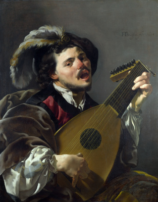 Hendrick Jansz Terbrugghen. A man playing the lute