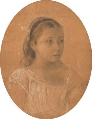 Isaac Levitan. Portrait Of Lena Nenarokov