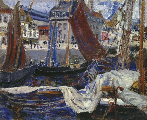 Boris Izrailevich Anisfeld. The harbour. 1910