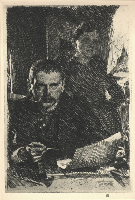 Anders Zorn. Zorn and his wife