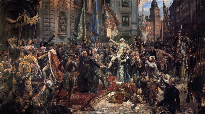 Jan Matejko. Adoption of the Constitution of Poland and Lithuania on May 3, 1791