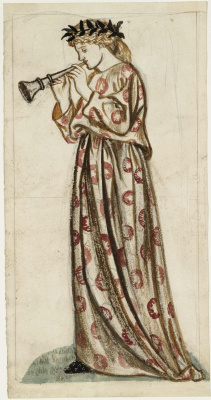 Уильям Моррис. Девушка с флейтой