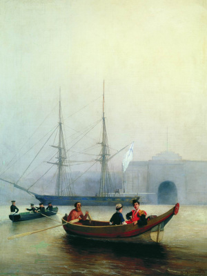 Alexey Petrovich Bogolyubov. On the Neva near the Admiralty