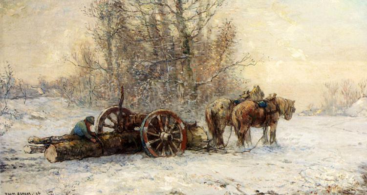 Франс Слагер. Снег