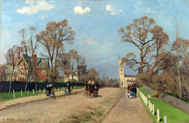 Camille Pissarro. Street in Sidname