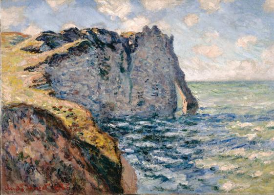 Claude Monet. Rocks in Port d Aval, Etretat