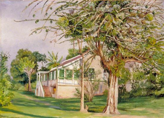 Марианна Норт. Пейзаж на Ямайке