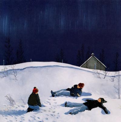 Питер Шостак. Дети в снегу