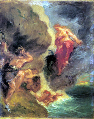 Eugene Delacroix. Juno and Eolus (sketch)