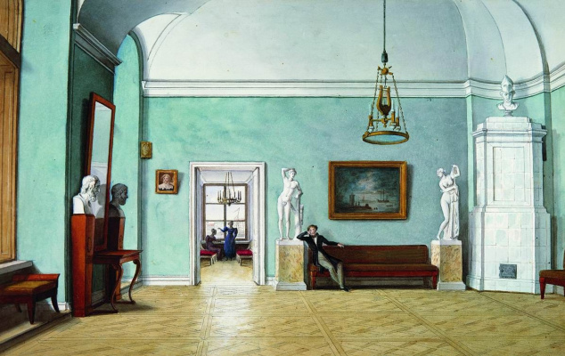 Fedor Petrovich Tolstoy. In the rooms