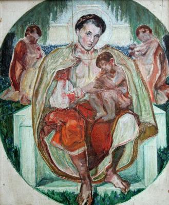 "Alexey (Oleksa) Novakovsky. Sketch for the eponymous poem of Taras Shevchenko's ""Maria"""