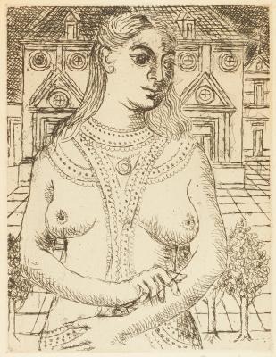 Поль Дельво Бельгия 1897-1994. Бюст женщины. 1965