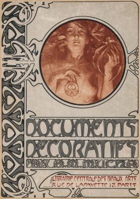 Alphonse Mucha. Design for cover decoration.