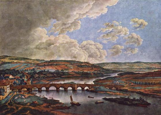 Фердинанд Кобелль. Мост через Майн