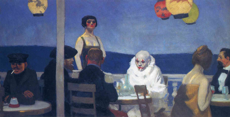 Edward Hopper. Blue night