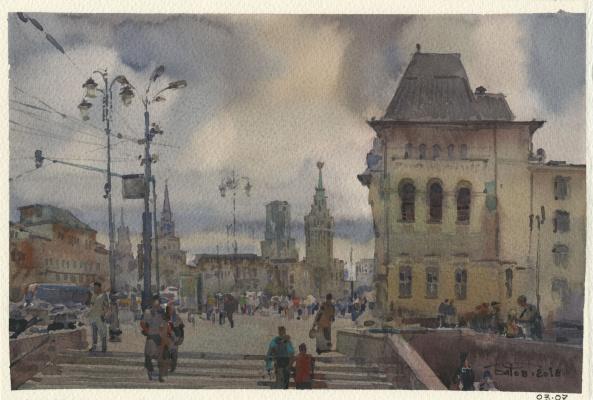 Anton Batov. Komsomolskaya square