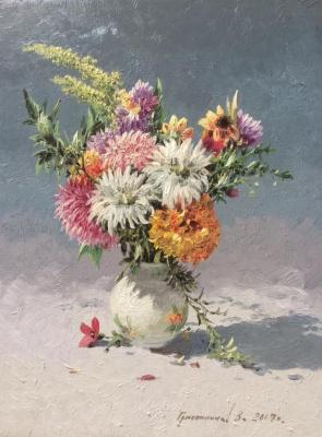 Vasily Ivanovich Gribennikov. Summer bouquet