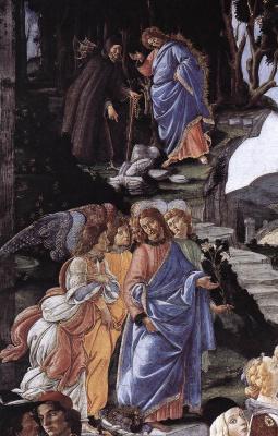 Сандро Боттичелли. Искушение Христа (фрагмент)