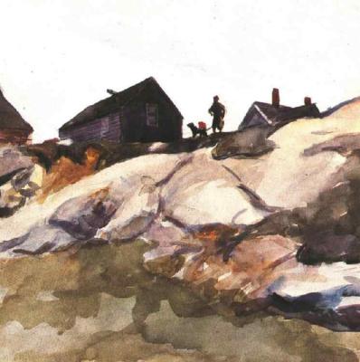 Edward Hopper. Rocks at Fort Gloucester