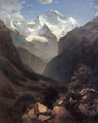 Alexey The Kondratyevich Savrasov. View in the Swiss Alps (Mount Small Ruhen)