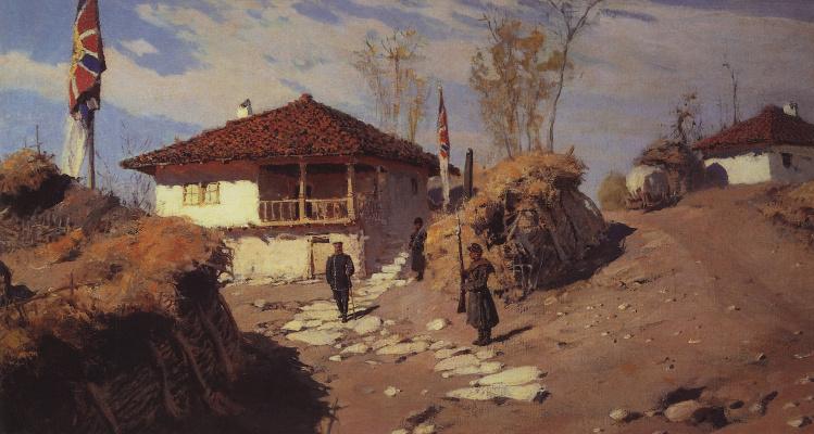 Василий Дмитриевич Поленов. Главная квартира Командующего Рущукским отрядом в Брестовце