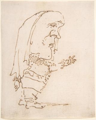 Gian Lorenzo Bernini. Caricature