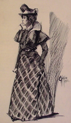 Edward Hopper. Standing woman (sketch)