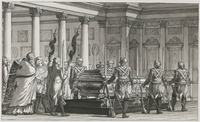 Giacomo Quarenghi. Burial of emperor paul i