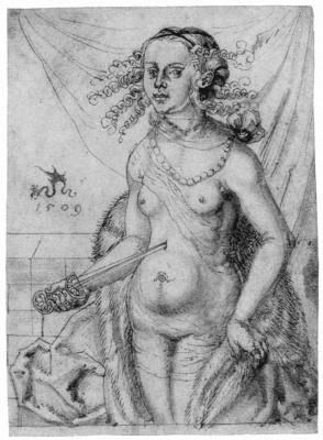 Lucas Cranach the Elder. Lucrezia turned to the left