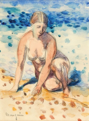 Nude on the seashore