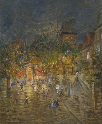 Konstantin Korovin. Carnival near the Moulin de la Galette