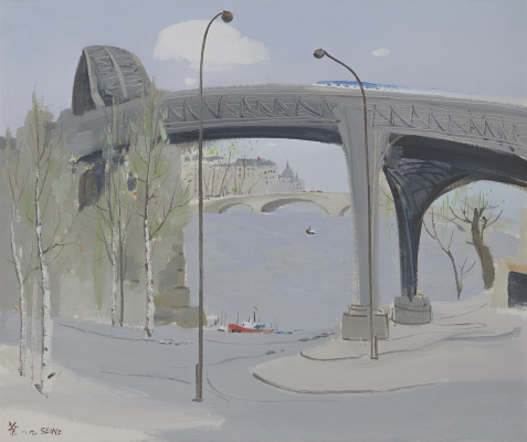 A Bridge over the Seine River