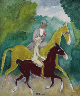 Kees Van Dongen. Riders in the forest.