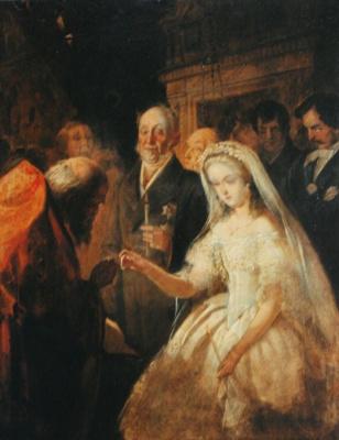 Василий Владимирович Пукирев. Неравный брак. Эскиз одноименной картины