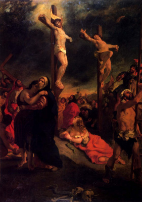 Eugene Delacroix. Jesus on the cross