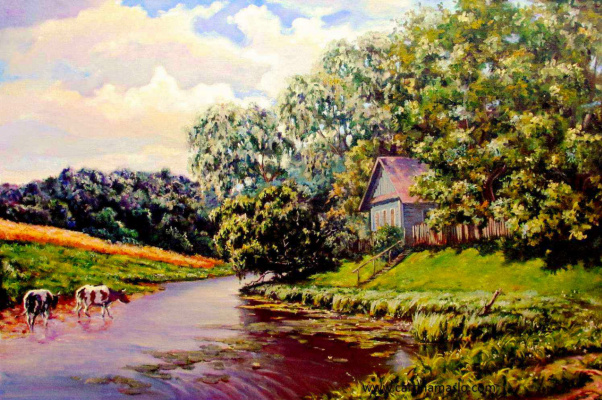 Roman Fedorovich Fedosenko. House by the river
