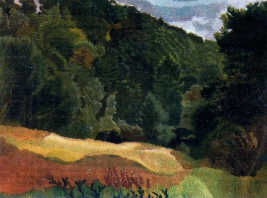 Stanley Spencer. Dense forest
