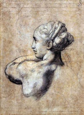 Raphael Sanzio. Head of a Woman