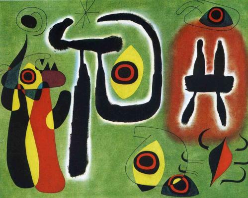 Joan Miro. Red spider eats the sun