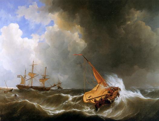 Йоханнес Шотел. Штормовая погода