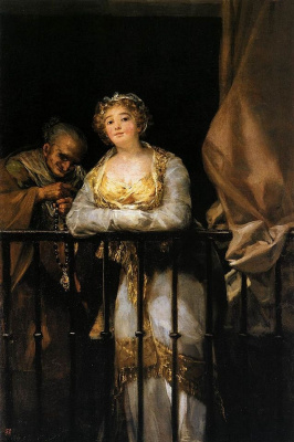 Francisco Goya. Mach and Celestina on the balcony